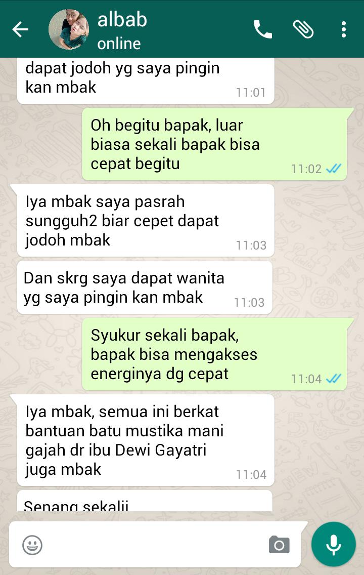 Testimoni Mustika Mani Gajah Dewi Gayatri
